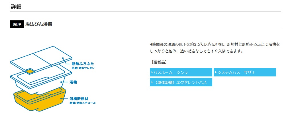 TOTO 公式サイト 魔法びん浴槽