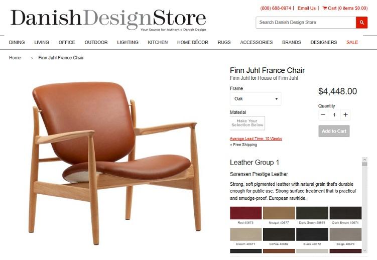 Danish Design Store Finn Juhl France Chair