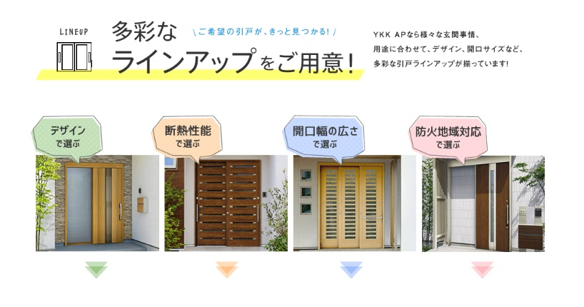 YKK ap  スライド式ドアのラインナップ