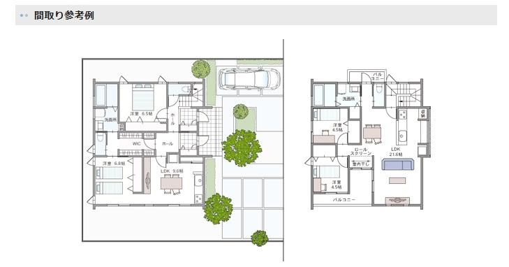 アキュラホーム 二世帯同居の家 間取り例