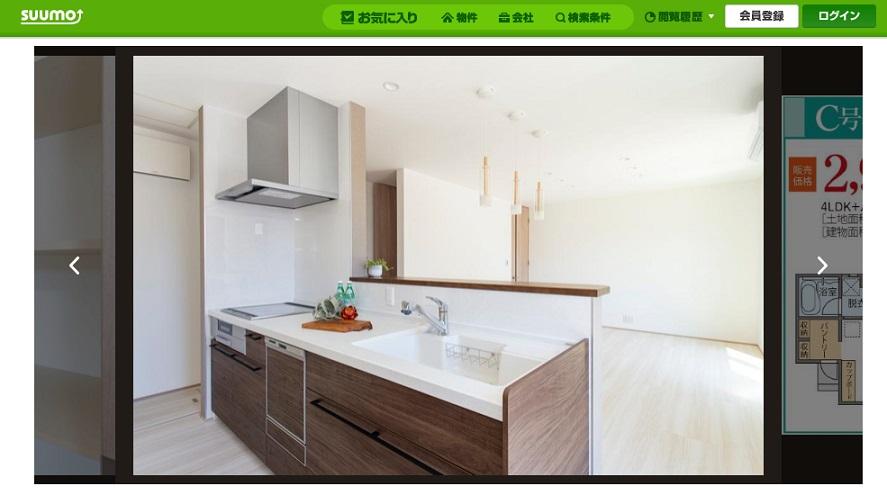 SUUMO アキュラホームの建売住宅 システムキッチンのサンプル