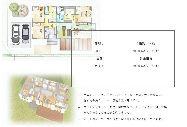 一条工務店 群馬支店 公式サイト 「平屋のラク家事Case3」