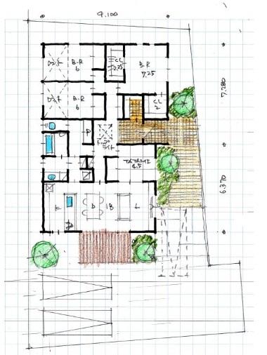アート建工 公式サイト 南道路に建つ平屋、南リビングプラン
