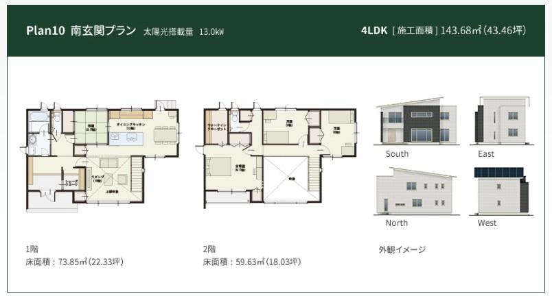 一条工務店 公式サイト アイ・スマート 解説ページ Plan10南玄関プラン