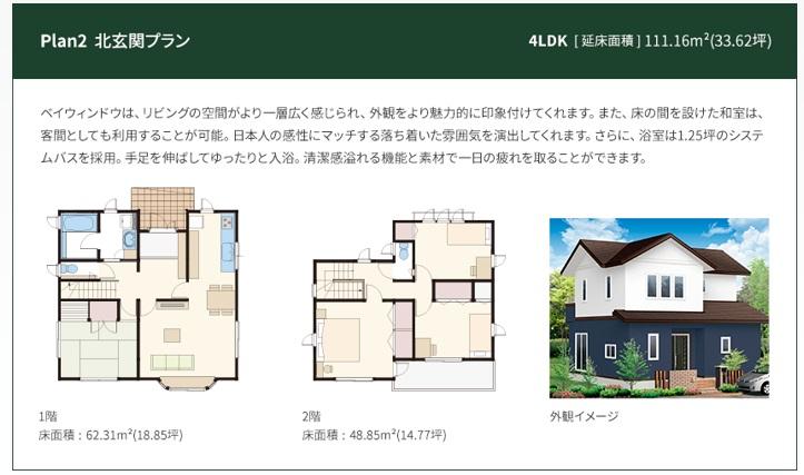 一条工務店 公式サイト セゾンA 解説ページ Plan2 北玄関プラン