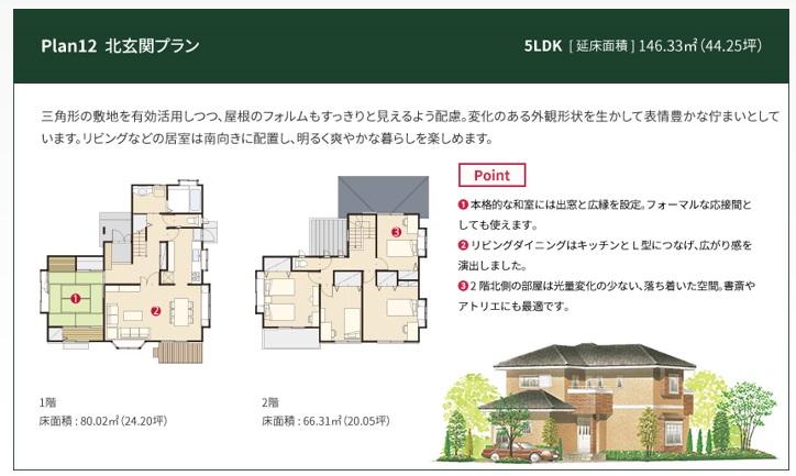 一条工務店 公式サイト セゾン 間取りプラン Plan12 北玄関プラン