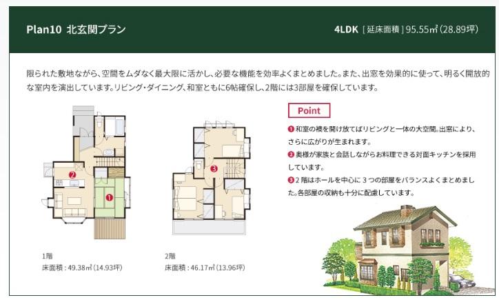 一条工務店 公式サイト セゾン 間取りプラン Plan10 北玄関プラン