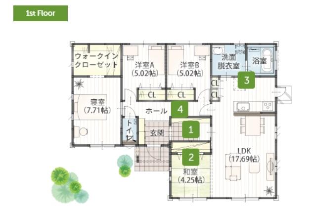 ジャストホーム 公式サイト 平屋住宅 30坪 3LDK 新築プラン 価格と間取り