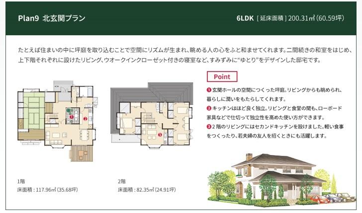 一条工務店 公式サイト セゾン 解説ページ Plan9 北玄関プラン