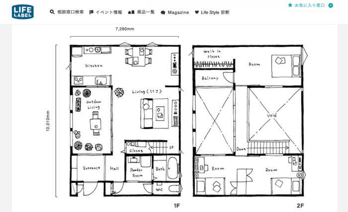 LIFE LABELのHOUSE CANVAS 間取り